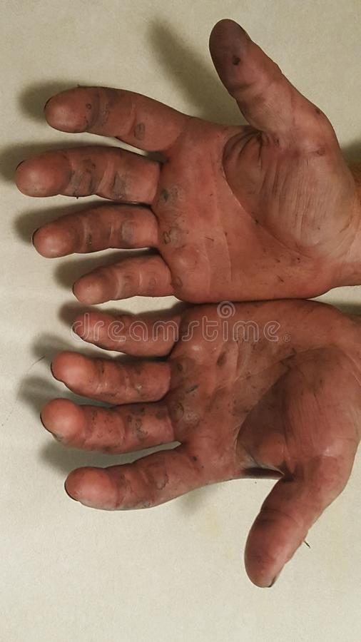Pracującego mężczyzna ręki fotografia royalty free