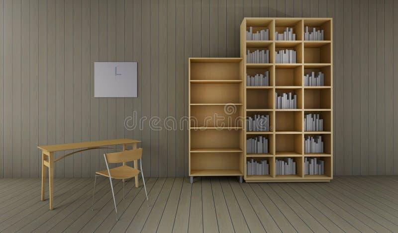 Pracujący i biurowy biurko 3D Odpłaca się wizerunku luksusu rocznika ilustracji
