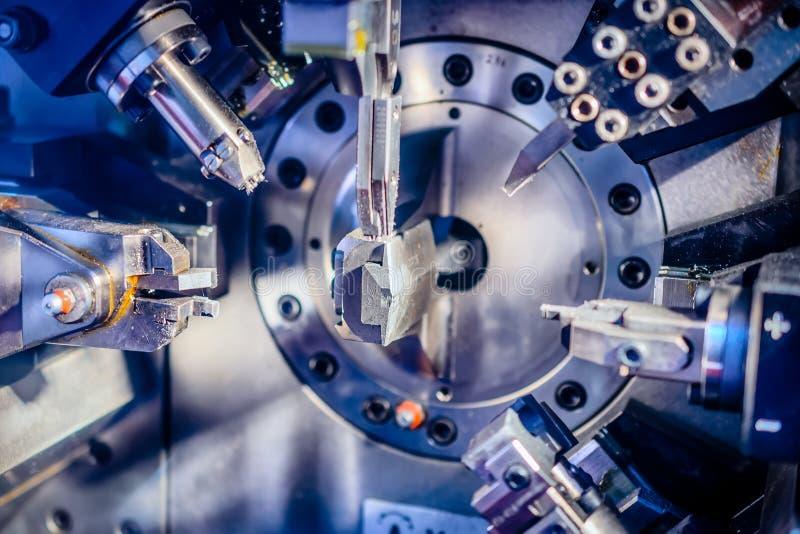 Pracujący maszynowy terenu CNC zdjęcie royalty free