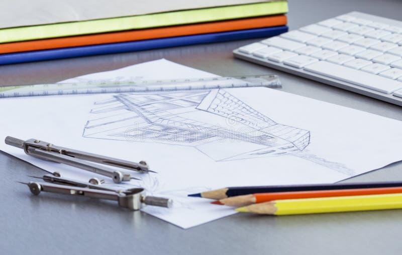 Download Pracujący Miejsce Projektant Obraz Stock - Obraz złożonej z jabłko, klawiatura: 57666279