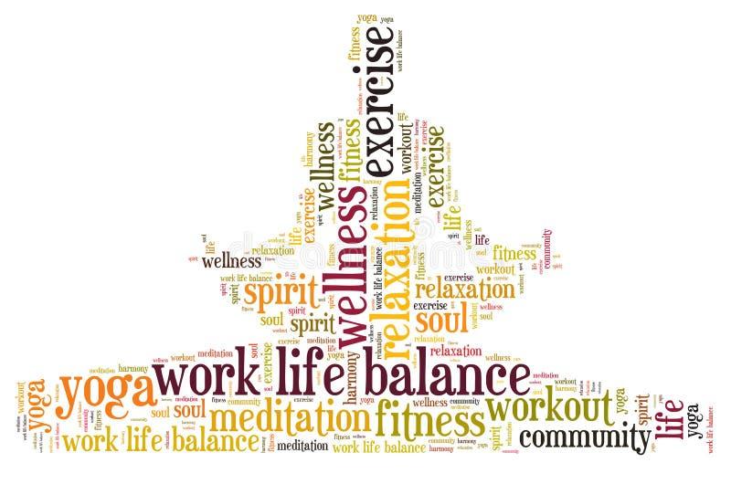 Pracuje życie równowagę ilustracja wektor