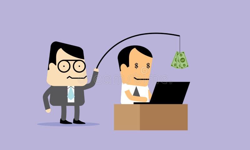 Pracuje Mocno dla pieniądze i sukcesu †'wektor royalty ilustracja