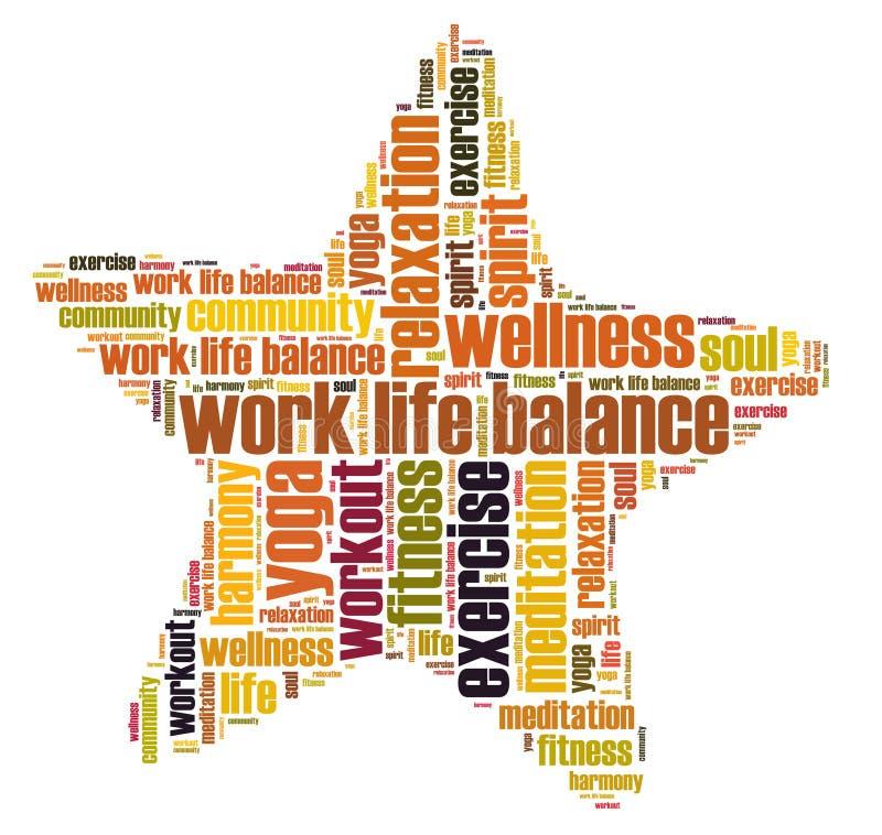 Pracy życia well i równowaga - być ilustracji