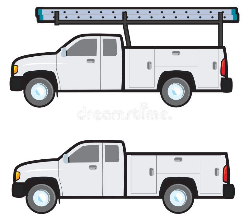 Pracy ciężarówka royalty ilustracja