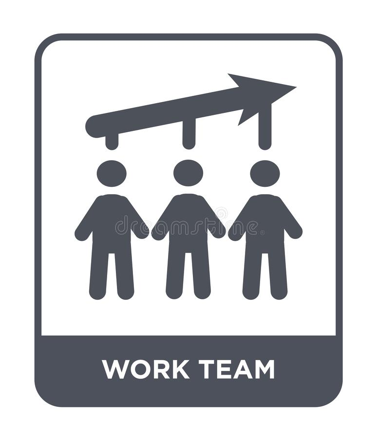 pracy drużynowa ikona w modnym projekta stylu pracy drużynowa ikona odizolowywająca na białym tle pracuje drużynowego wektorowego royalty ilustracja