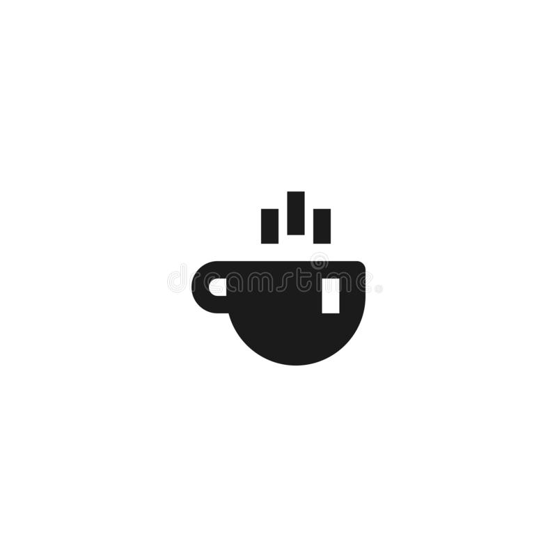 Pracy ikony spoczynkowy projekt filiżanka gorący kawowy symbol prosta czysta fachowa zarządzania przedsiębiorstwem pojęcia wektor ilustracja wektor