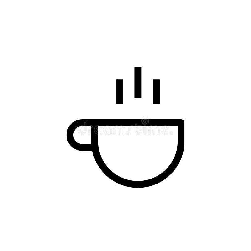 Pracy ikony spoczynkowy projekt filiżanka gorący kawowy symbol prosty czysty kreskowej sztuki zarządzania przedsiębiorstwem pojęc ilustracja wektor