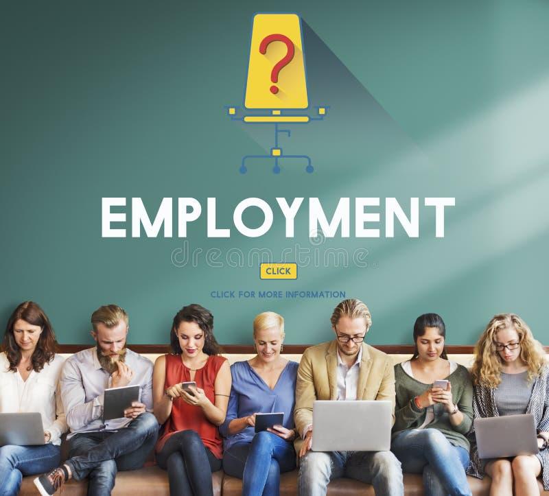 Pracy kariera Zatrudnia zatrudnienie Zatrudnia pojęcie obraz stock