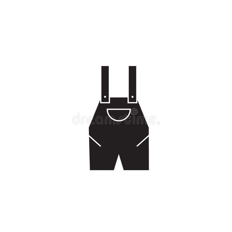 Pracy pojęcia całkowita czarna wektorowa ikona Pracy całkowita płaska ilustracja, znak ilustracji