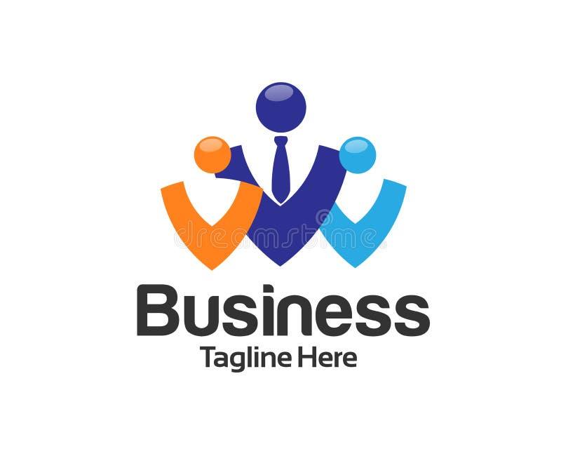 Pracy przywódctwo i Rekrutacyjny agencyjny logo ilustracja wektor