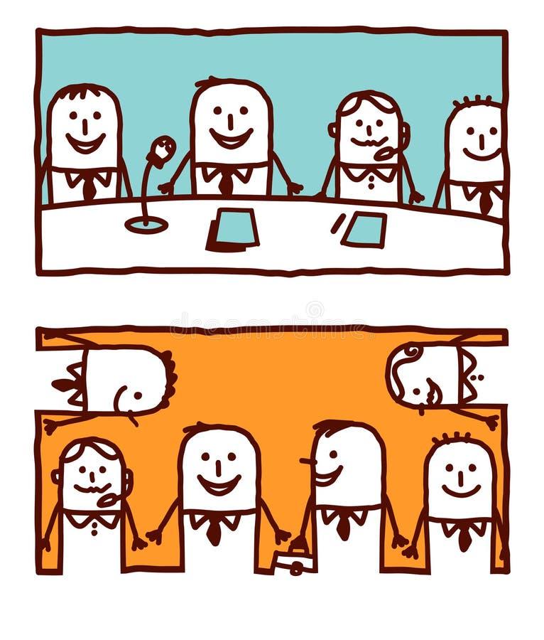 pracy zespołowe royalty ilustracja