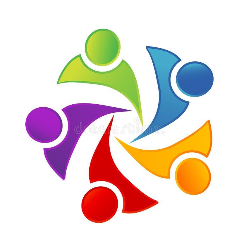 Pracy zespołowej aktywności dzieciaki i dzieci pracuje wpólnie, ikona wektor ilustracja wektor