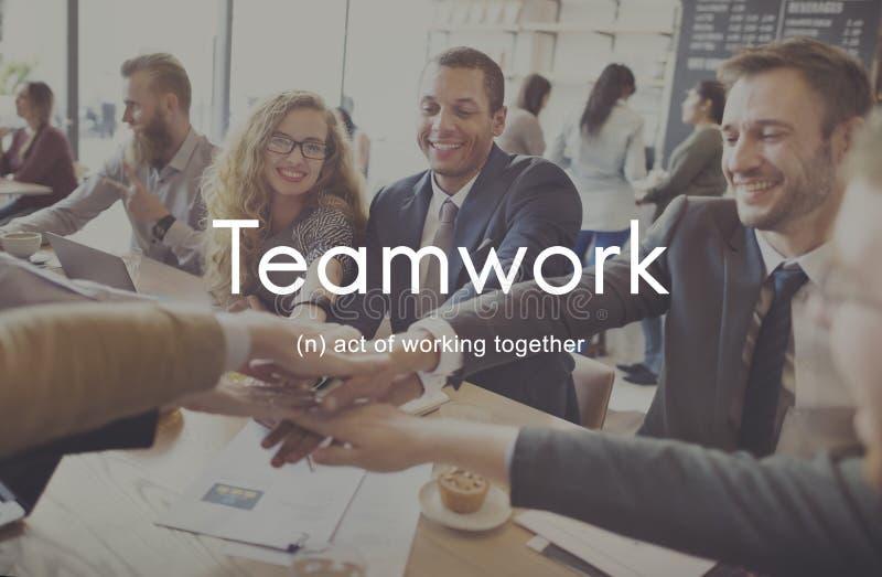Pracy zespołowej Alliance Współpraca Firma drużyny pojęcie obraz royalty free