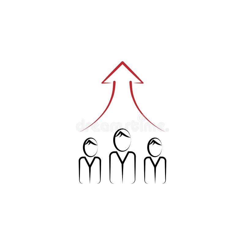 Pracy zespołowej 2 barwiąca kreskowa ikona Prosta barwiona element ilustracja Praca zespołowa konturu symbolu projekt od finanse  ilustracja wektor