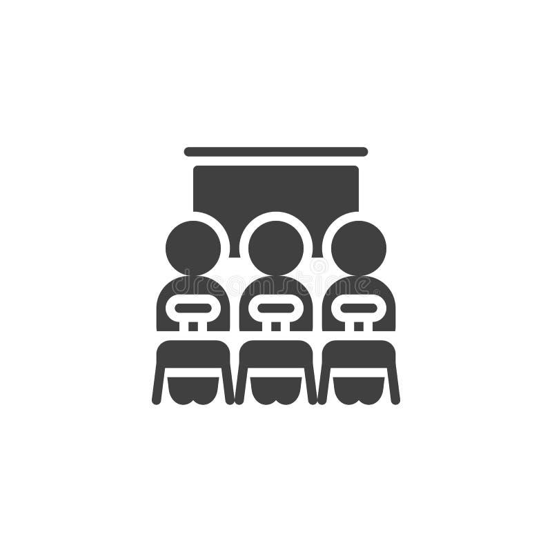 Pracy zespołowej grupa i prezentacji deskowa wektorowa ikona royalty ilustracja