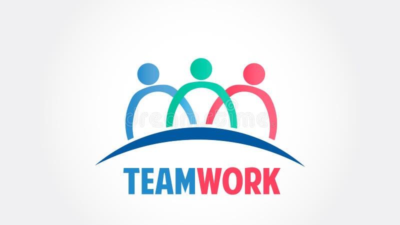Pracy zespołowej grupy społeczności wektoru loga ludzie ilustracji