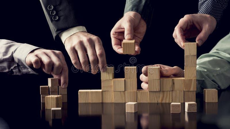 Pracy zespołowej i współpracy pojęcie zdjęcia stock