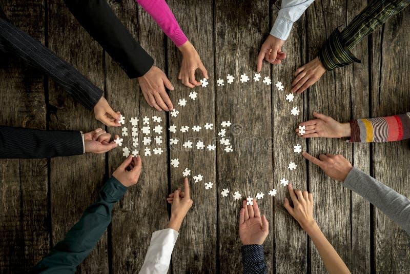 Pracy zespołowej i współpracy pojęcie obraz stock