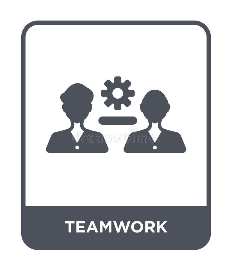 pracy zespołowej ikona w modnym projekta stylu Pracy zespołowej ikona odizolowywająca na białym tle pracy zespołowej wektorowej i ilustracji