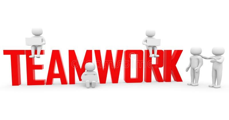 Pracy zespołowej pojęcie. Konceptualna biznesowa ilustracja ilustracji