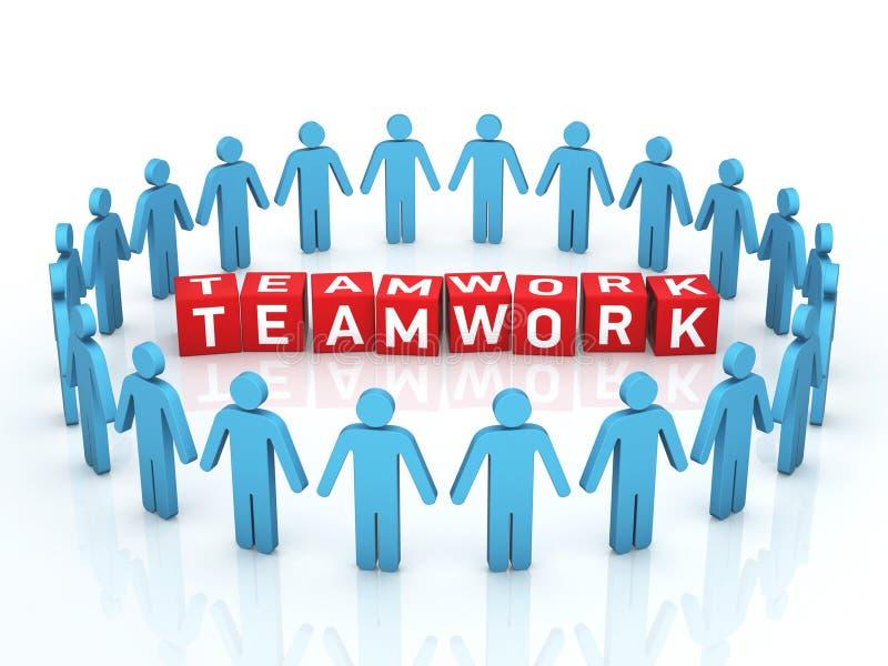 Pracy zespołowej zarządzanie ilustracji
