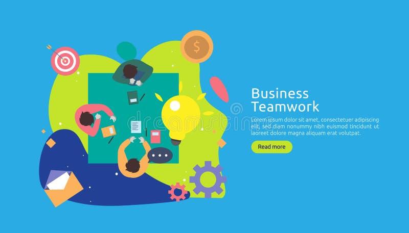 pracy zespo?owej brainstorming pomys?u biznesowy poj?cie z du?? ? ilustracji