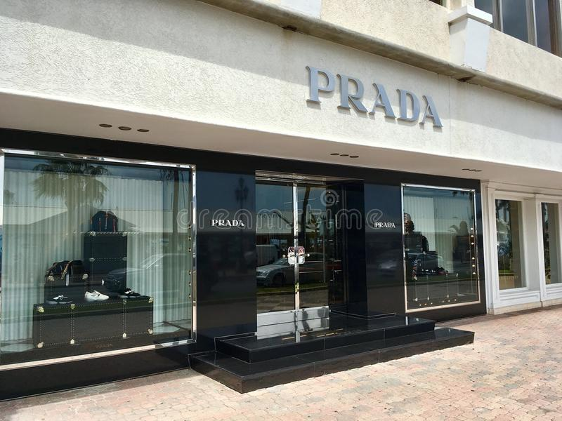 PRADA brand store in Aruba royalty free stock photos