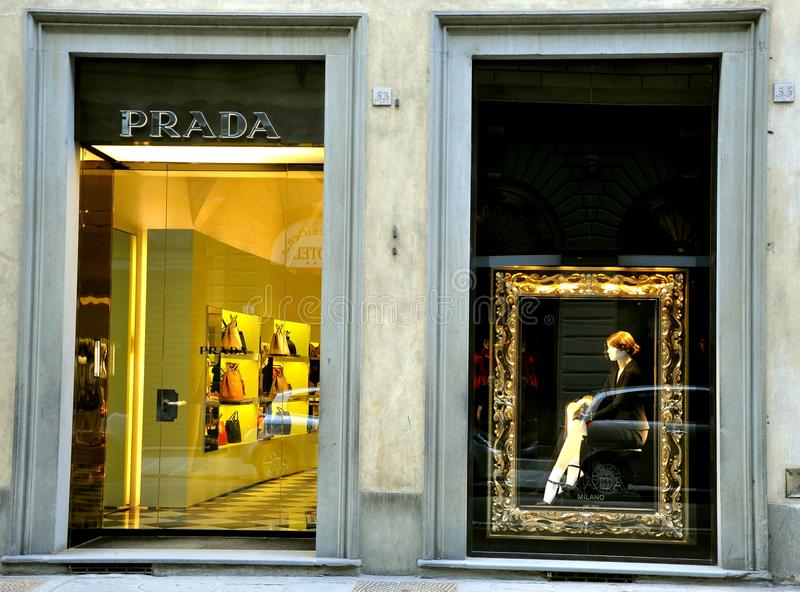 Download Prada Fashion Boutique In Italy Editorial Image - Image: 17683190