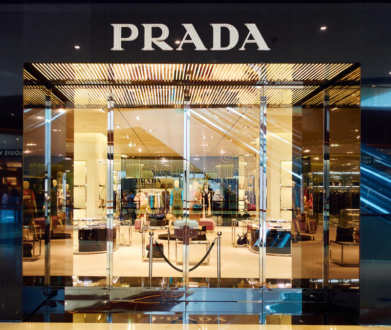 Retail Store Front: Prada Fashion Shop Boutique Store Editorial Photography