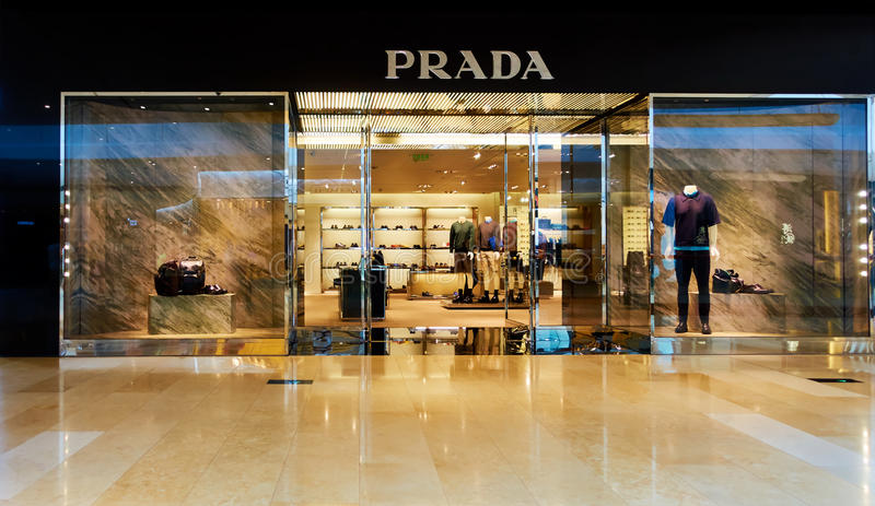 Front Elevation Of Garment Showroom : Prada fashion store shop window front editorial stock