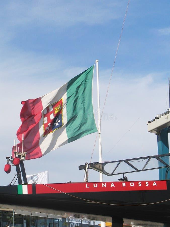 Prada Luna Rossa e indicador italiano imagen de archivo libre de regalías