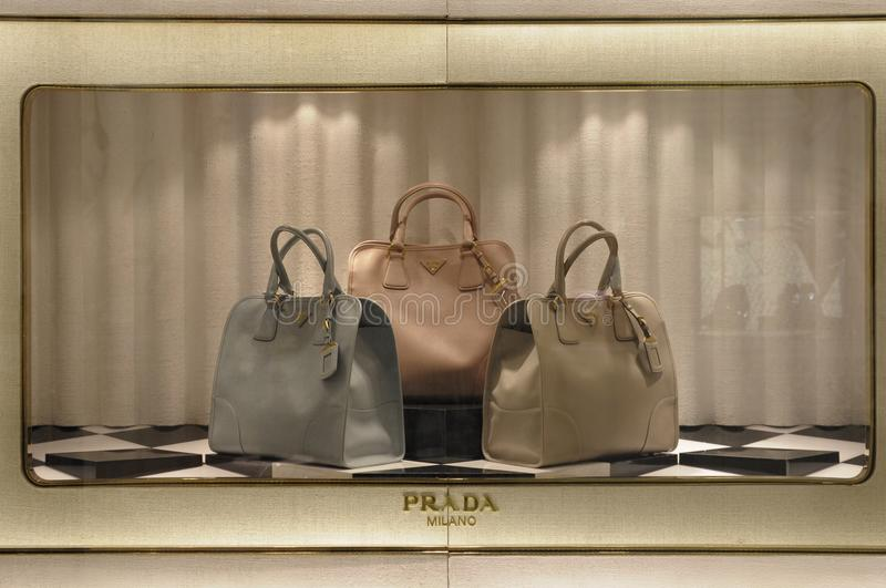 Prada showcase stock photo