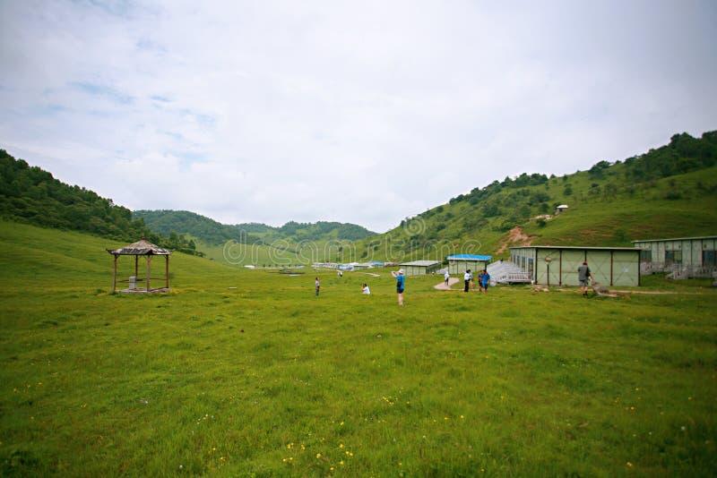 Pradaria de Baoji Guan Shan foto de stock royalty free