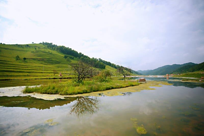 Pradaria de Baoji Guan Shan imagem de stock