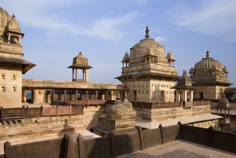 pradesh för orchha för india jahangirimadhya mahal royaltyfri bild