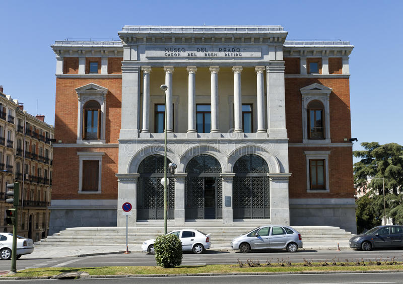 Prado museum, Cason del Buen Retiro, Madrid stock photo