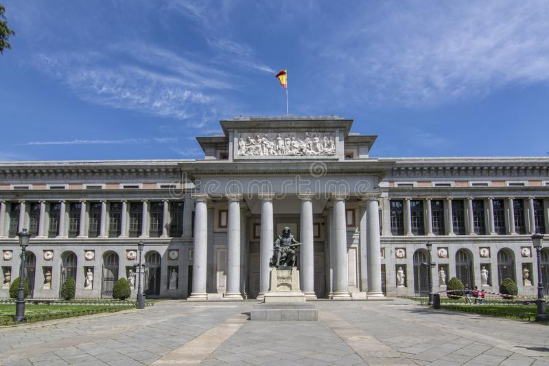 The Prado Museum in Madrid Spain stock photos