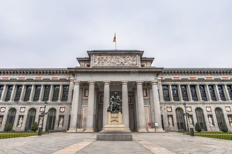 Prado museum på Madrid, Spanien royaltyfri fotografi