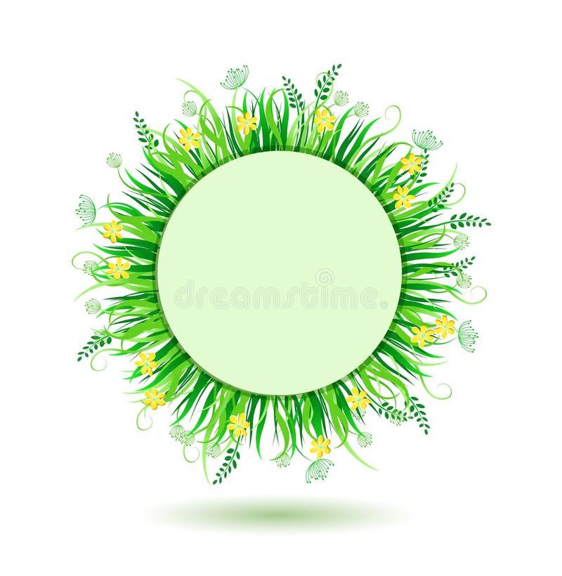 Prado verde bonito ilustração royalty free