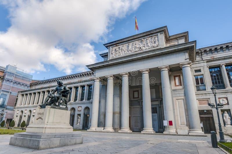 Pradomuseum in Madrid, Spanje stock foto's