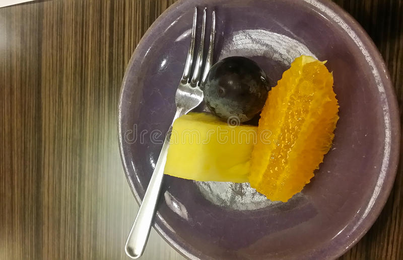 Praepared果子为吃,日本 库存照片