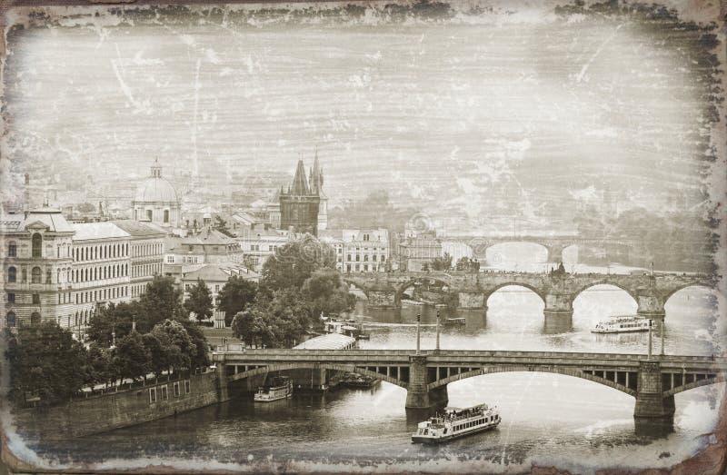 Download Prag stockbild. Bild von skyline, gebäude, stylization - 27729439