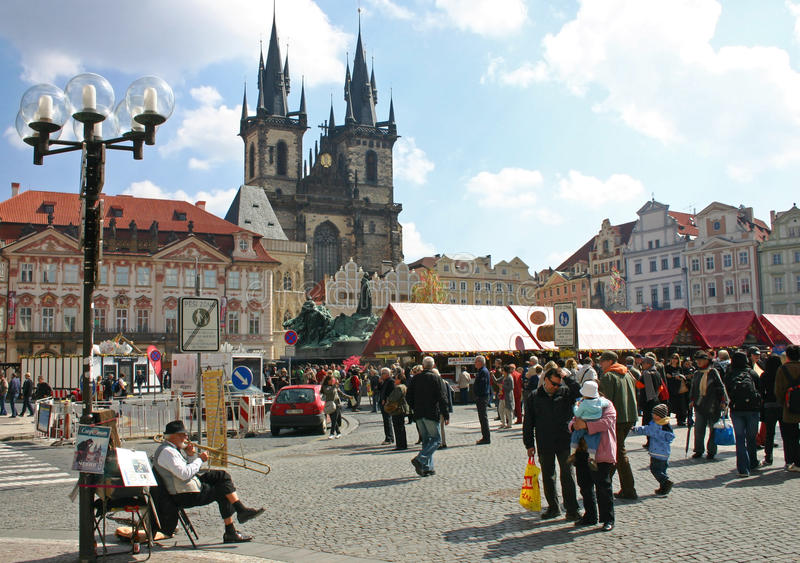 Prag-altes StadtTyn Quadrat stockfotografie