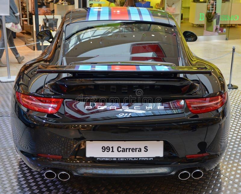 PRAG - 14. APRIL: Porsche 911 991 lizenzfreies stockfoto