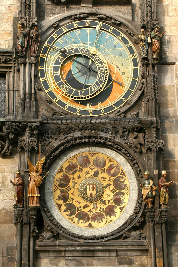 Prag-Borduhr stockfotografie