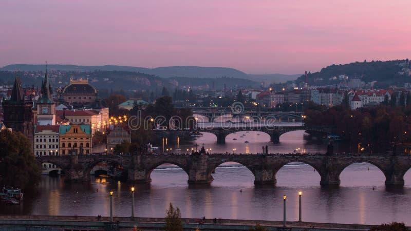 Prag-Brücken lizenzfreie stockfotos