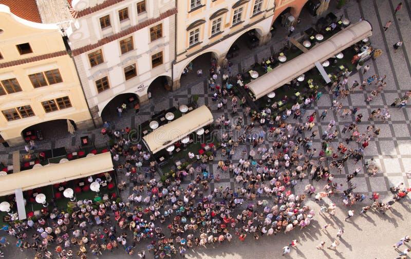 Prag, das alte Quadrat der Stadt stockfotografie