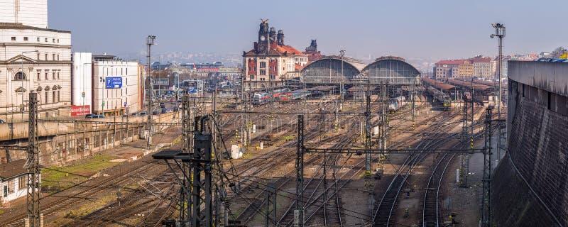 Prag-Hauptanschluss, Tschechische Republik lizenzfreie stockbilder