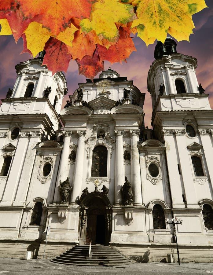 Prag-Herbstkonzept stockbilder