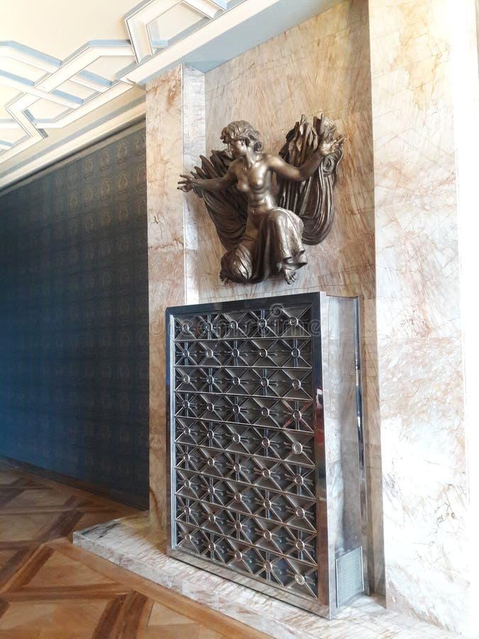 Prag-Kathedrale Hauptstadt der alten Jugendstilarchitekturkirche gesetzte tschechische im heißen Sommer in Mitteleuropa-Protestan lizenzfreie stockfotos
